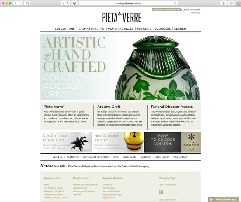 E-shop Pieta Verre
