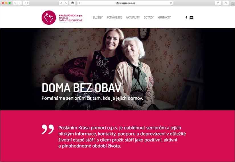 Webové stránky pro Krása pomoci