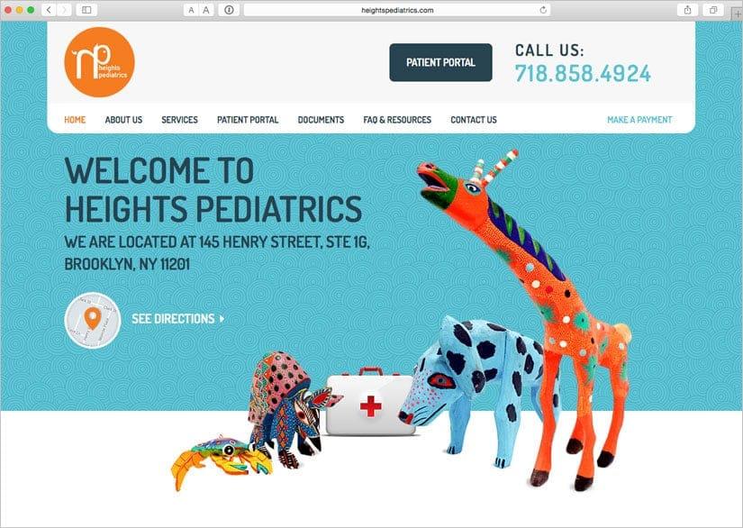 Webové stránky pro Heights Pediatrics