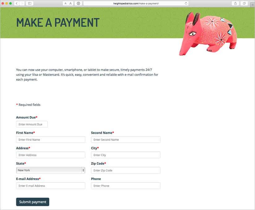 Heights Pediatrics - Payments