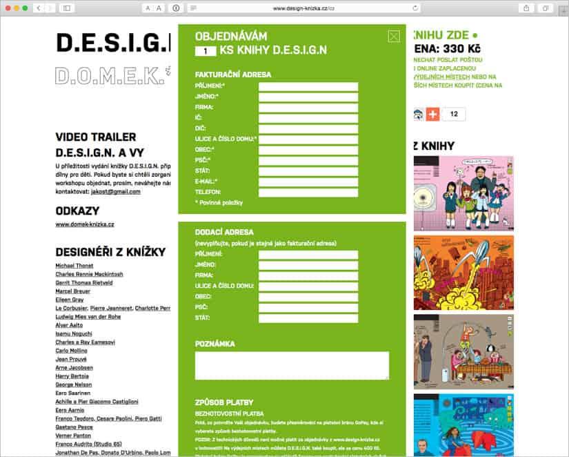 Design objednávka