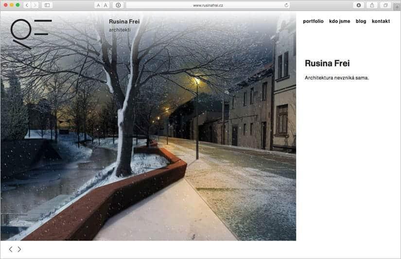 Webové stránky pro Rusina Frei architekti